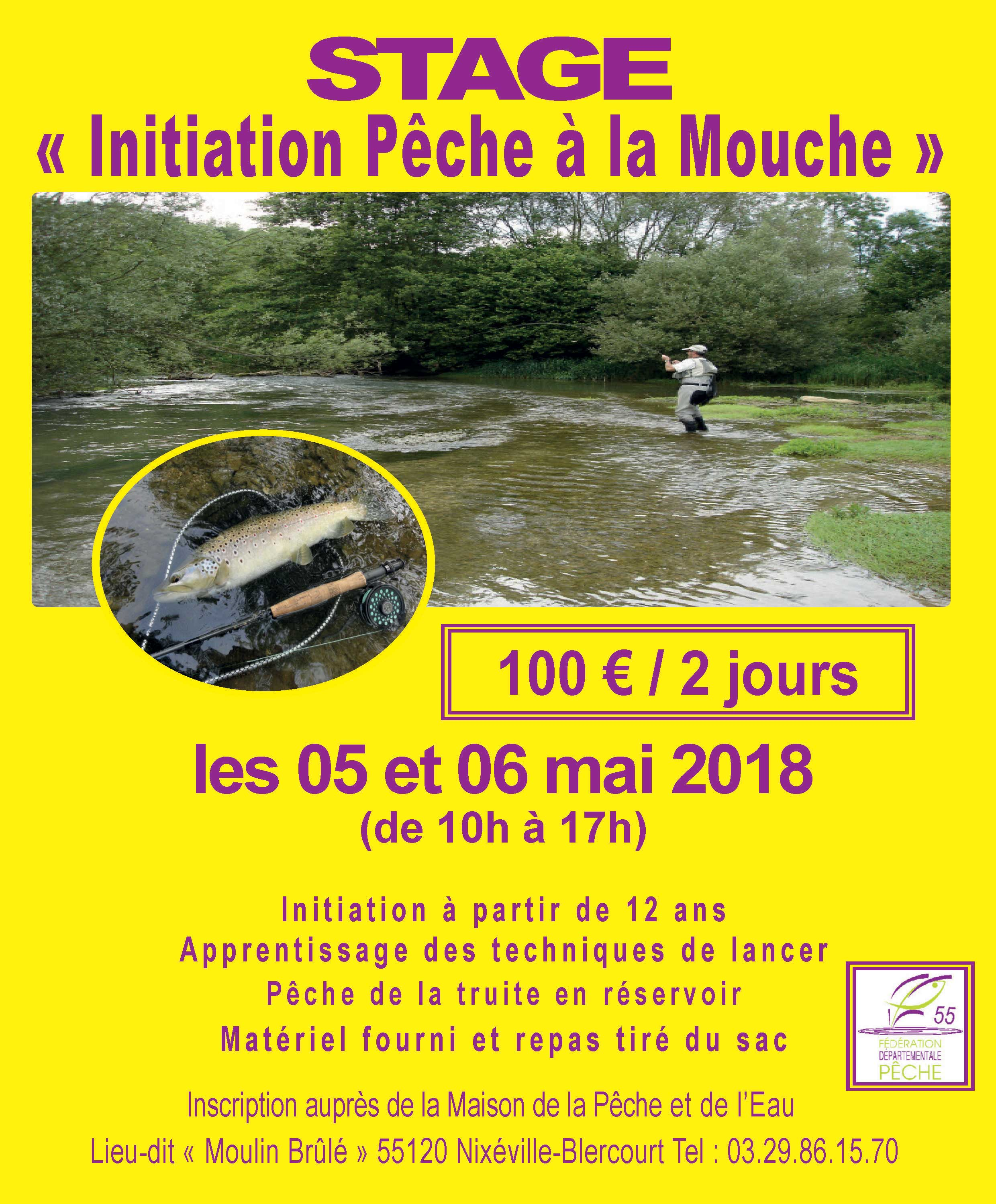 Stage initiation peche a la mouche for Attrape mouche maison